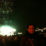 Nisha at SF NYE 2011 fireworks